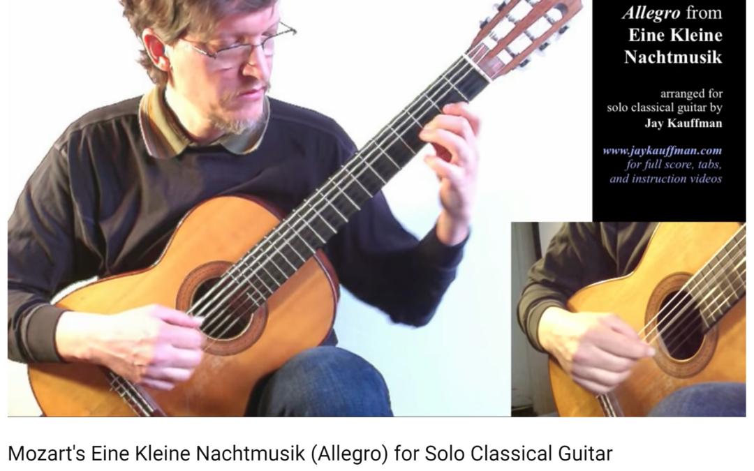Eine Kleine Nachtmusik, K. 525 Arranged for Solo Classical Guitar